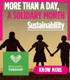 GIVING TUESDAY - more than a day, a month of solidarity