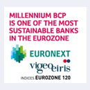 Millennium bcp is one of the 120 most Sustainable companies in the Euro Zone.