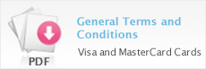 General Terms and Conditions - Visa and MasterCard Cards