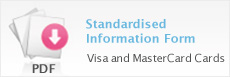 Standardised Information Form - Visa and MasterCard Cards