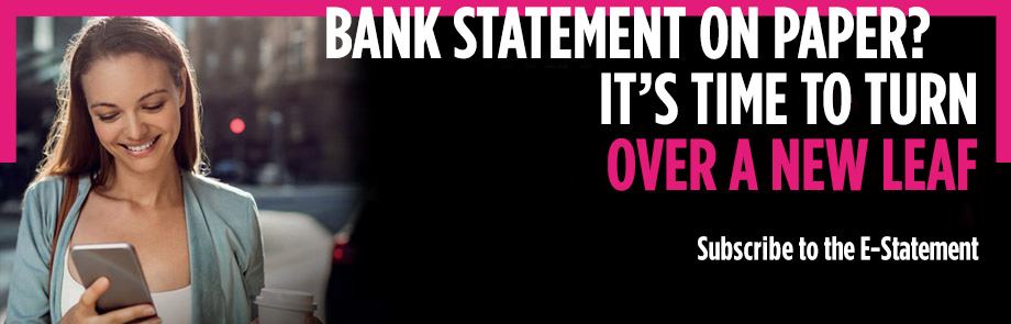 BANK STATEMENT ON PAPER? IT'S TIME TO TURN OVER A NEW LEAF