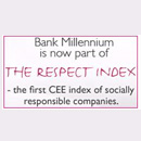 Bank Millennium, na Polónia, integra - RESPECT Index