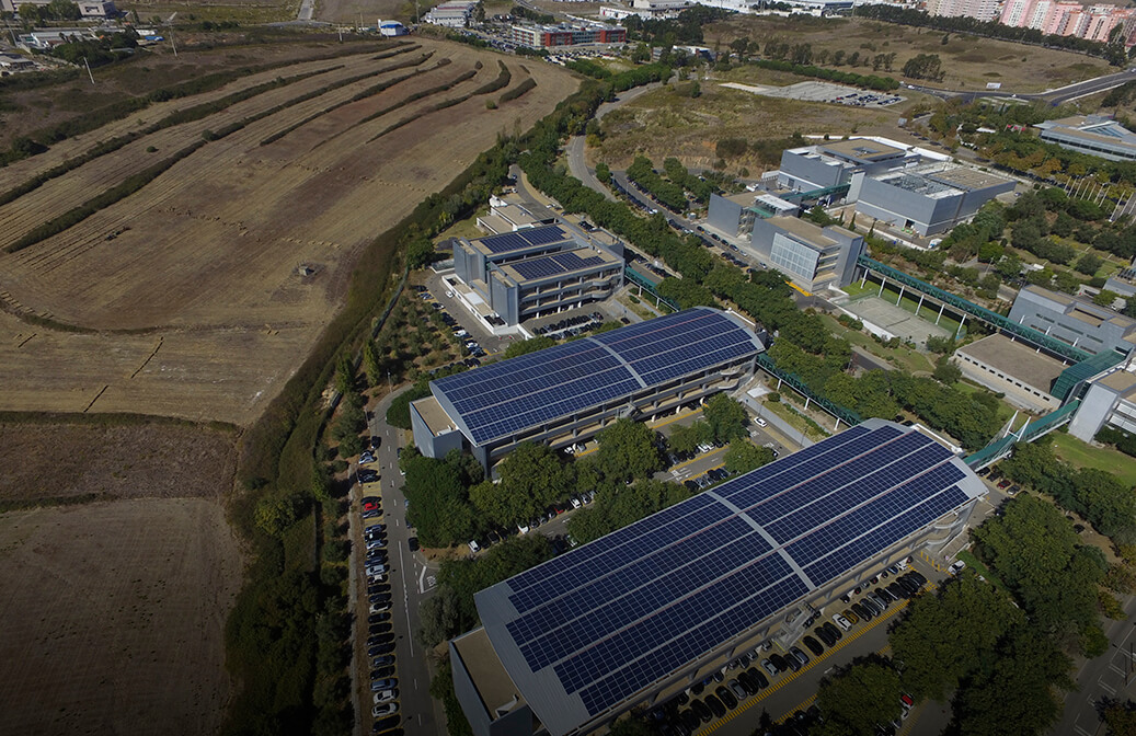 Photovoltaic solar power plant in Taguspark (Portugal)