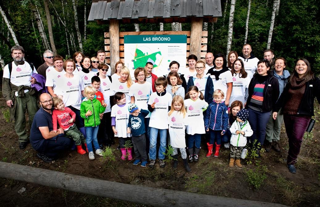 Plantation of trees under the volunteering of Bank Millennium Foundation (Poland)