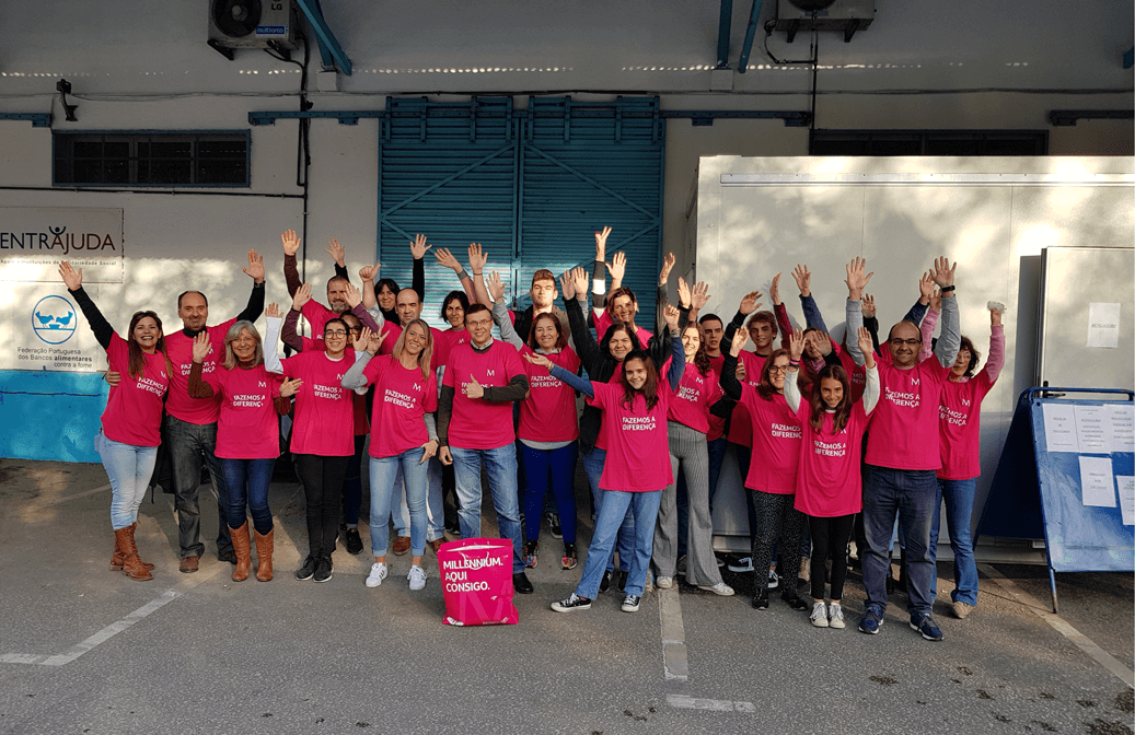 Food collection campaign of the Banco Alimentar Contra a Fome (Portugal)